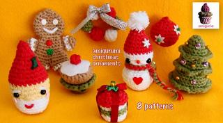 Zelda Amigurumi Patterns : Ravelry: 8 Amigurumi Christmas Ornaments pattern by ...