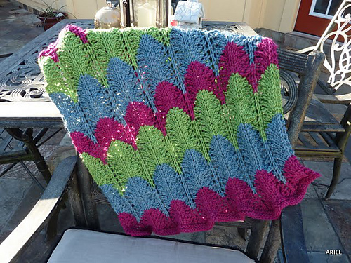 Fo Baby Blanket Feather Fan Fast Whatcha Knittin