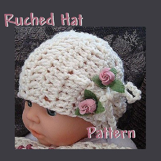 Crochet Baby Hat Pattern Beginner : Ravelry: Ruched Hat Crochet Hat Pattern by Ashton11 ...