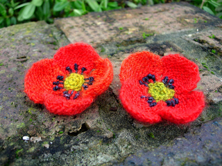 Easy Afghan Knitting Patterns Free : Ravelry: Field Poppy pattern by Lesley Stanfield