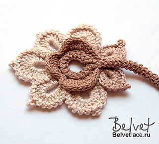 Ravelry: RUS Flower from Bolero Cappuccino pattern by ...
