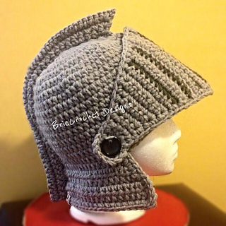 Free Crochet Pattern For Helmet Hat : Ravelry: Extra Thick Knights Helmet pattern by BrieCrochet ...