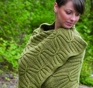 Knitting Pattern Blanket Wrap : Ravelry: C224 Cascade Eco + Quilt and Cable Blanket pattern by Cambria Washin...