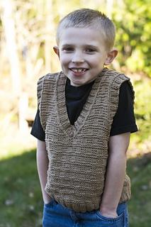 Ravelry: Boys V-Neck Vest pattern by Betty P Balcomb