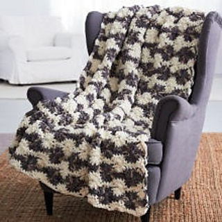 Crochet Patterns Using Bernat Home Bundle : Ravelry: Big Wheel Blanket pattern by Bernat Design Studio