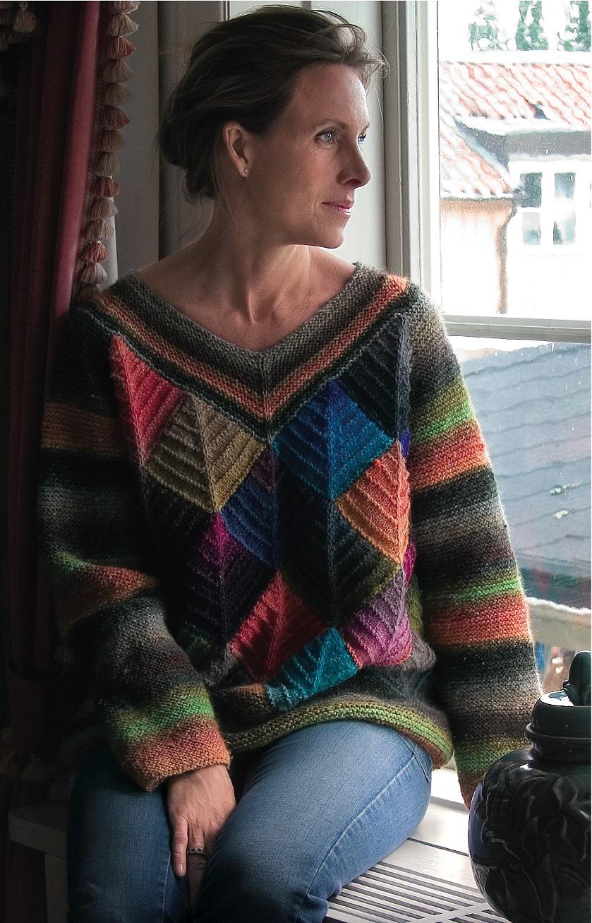 Вязание из остатков пряжи спицами свитера