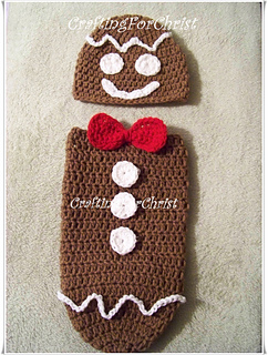 Free Crochet Pattern For Gingerbread Man Hat : Ravelry: B s Gingerbread Man Hat and Cocoon: pattern by ...