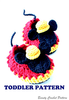 Free Crochet Pattern For Mickey Mouse Shoes : Ravelry: Mr.M Mouse Crochet Shoes Toddler pattern by ...