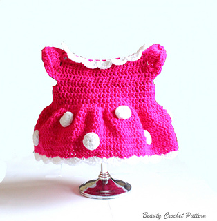 Free Crochet Pattern For Baby Minnie Mouse Outfit : Ravelry: Miss Bow Mouse Crochet Dress pattern by Beauty ...