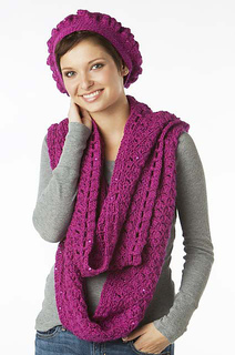Ravelry: La Poetique Beret and Infinity Scarf Set pattern ...