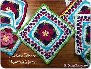 Starburst Flower Crochet Blanket Pattern : Ravelry: Starburst Flower Mandala Square pattern by