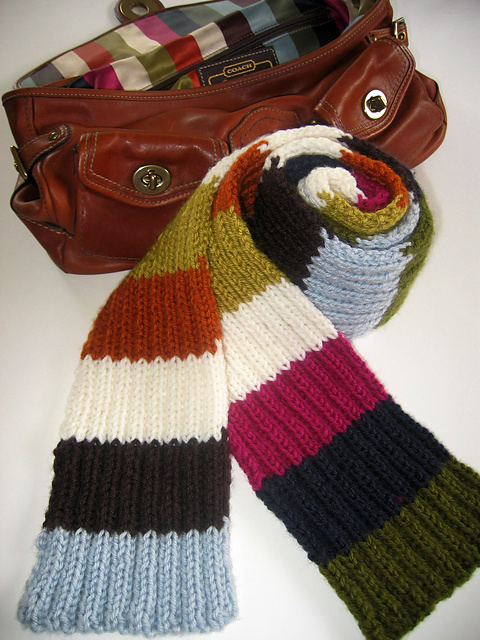 Free Pattern Friday   Coach Legacy Striped Scarf BeLoved Knits