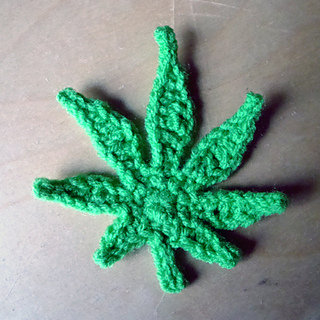 Free Crochet Pattern For Hemp Leaf : Ravelry: Peace Leaf (Pot Leaf) pattern by Elizabeth Brunson