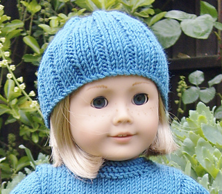 Ravelry: Free American Girl Doll Pull-on Hat Pattern pattern by