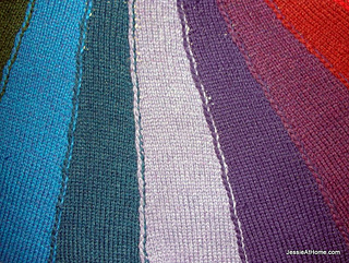 Free Knitting Pattern Vertical Stripe Scarf : Ravelry: Join~As~You~Go Knitted Vertical Stripes pattern by Jessie Rayot