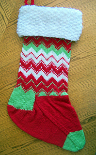Christmas Stocking Knitting Pattern Ravelry : Ravelry: Christmas Stocking ~ Snow Caps pattern by Joan Laws