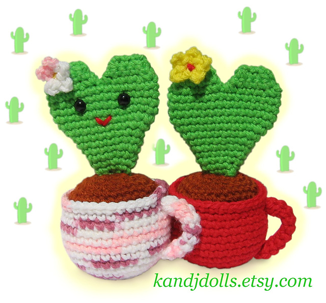 Amigurumi cactus? Kawaii desu!