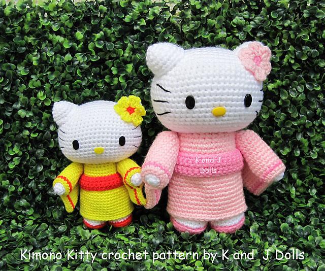 theknittycats tips & techniques: Hello Kitty in Kimono ...