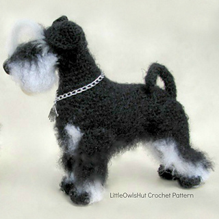 Ravelry: 101 Miniature Schnauzer dog pattern by LittleOwlsHut