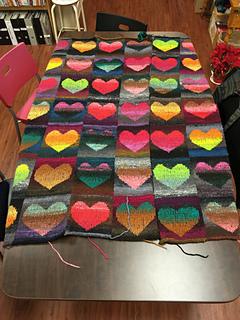 ravelry knitsurfers heart blanket