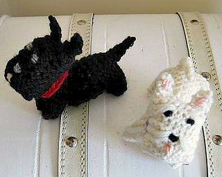 Knitting Pattern Westie Dog : Find us and more of our patterns on Ravelry! StitchGeek