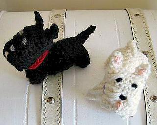 Ravelry: Wee Westie and Wee Scottie Dogs pattern by Ellen ...