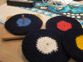 Ravelry Vinyl Record Coasters Crochet Version Pattern