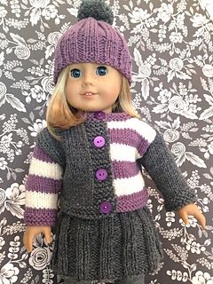 Free Knitting Patterns For 10 Inch Dolls Clothes : Ravelry: Wee Gingersnap for dolly pattern by Kristen Rettig