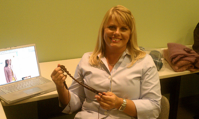 Kristin in the Green Room at KGTV