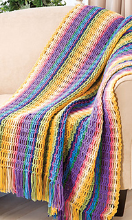 Ravelry Chain Stripes Afghan Pattern By Katherine Eng