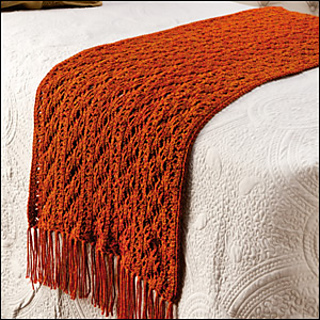 Ravelry: Copper Lace Bed Scarf pattern by Laura Gebhardt