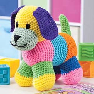 Free Crochet Patterns For Animal Toys : Ravelry: Patchwork Puppy pattern by Sheila Leslie