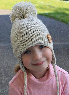 Ravelry Free Pattern For Child S Earflap Hat On The