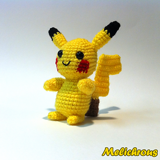 Amigurumi Pokemon Instructions : Ravelry: Pikachu Pattern Crochet Amigurumi PDF pattern by ...