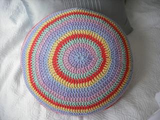 Ravelry Round Stripy Cushion Cover Pattern By Nicki Trench