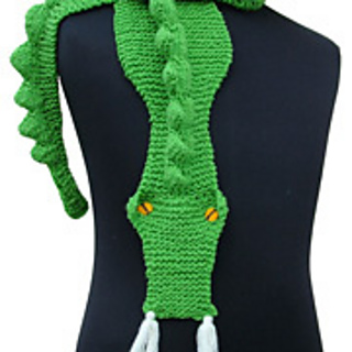 Knitting Pattern For Dragon Scarf : Ravelry: Morehouse Dragon Scarf pattern by Morehouse Designs