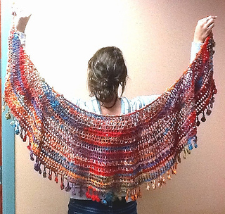 Crescent Moon Shawl Free Crochet Pattern : Ravelry: Mezzaluna (Crescent Moon) Wrap pattern by Nancy P