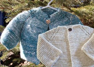 Ravelry Top Down Garter Stitch Baby Jacket Pattern By