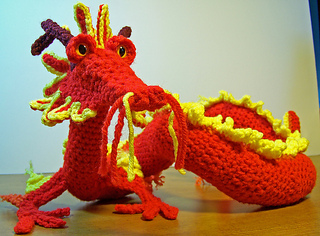 Asian Dragon Amigurumi Pattern Free : Ravelry: Oriental Dragon pattern by Gail Hovanec