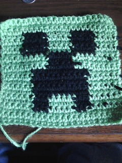Free Crochet Pattern For Minecraft Afghan : Ravelry: Minecraft Creeper Pattern pattern by NixLuna