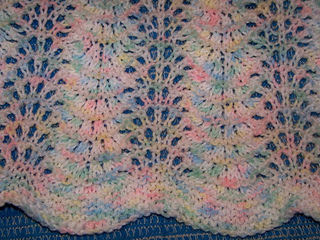 Ravelry Feather Amp Fan Lace Baby Blanket Pattern By