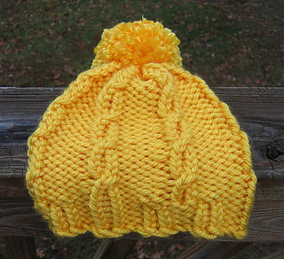 Loom Knit Cable Stitch Hat : Ravelry: Loom Knit Cable Hat and Wristers (Hat) pattern by Lion Brand Yarn