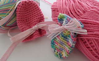 Crochet Baby Gloves Pattern : Ravelry: Thumbless Crochet Baby Mittens pattern by Paula ...