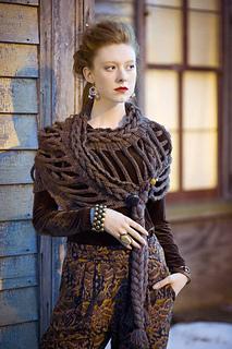 Vintage Knitting Pattern Library : Ravelry: #29 Double Ladder Wrap pattern by Jenny King