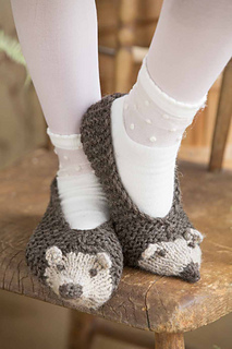 Hedgehog Slippers Knitting Pattern : Ravelry: #10 Hedgehog Slippers pattern by Pat Olski
