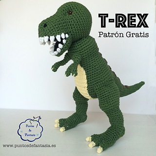 Crochet Patterns Free Doll Clothes : Ravelry: Dinosaurio T-Rex pattern by Puntos de Fantas?a