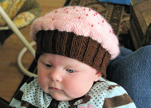 Free Knitting Pattern For Baby Cupcake Hat : Cupcake Knit Hat Pattern Free New Calendar Template Site