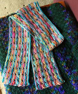 Cross Stitch Knitting Pattern Scarf : Ravelry: Koigu Cross Stitch Scarf pattern by DoublePointed Designs