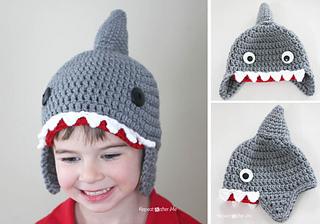 Ravelry Crochet Shark Hat Pattern By Sarah Zimmerman