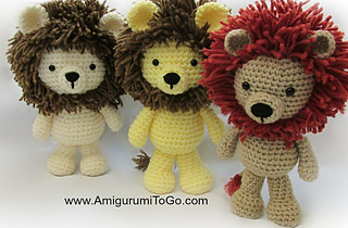 Ravelry: Little Bigfoot Lion 2014 Edition pattern by ...